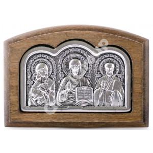 Икона тройник в машину (в дереве)